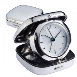 Μεταλλικό ρολόι-ξυπνητήρι ταξειδίου € 6,90
