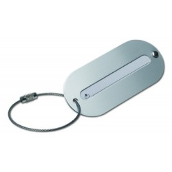Aluminium luggage tag  € 1,20