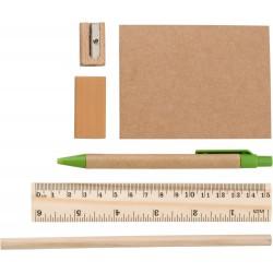 Οικολογικό set στυλό, μολύβι, χάρακας €  1,90