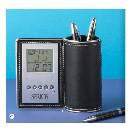 Μολυβοθήκη, ρολόι ημερολόγιο € 12,00