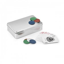 Σετ poker σε μεταλλικό κουτί € 5,00