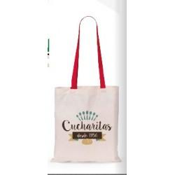 Οικολογική τσάντα με χρωματιστό χερούλι € 1,60