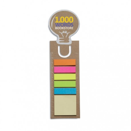 Sticky memos-χάρακας Lightbulb € 0,40
