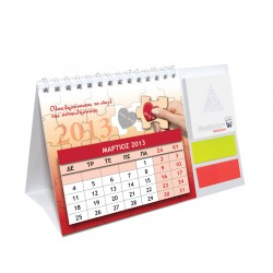 Ημερολόγιο γραφείου με sticky notes και σελιδοδείκτες