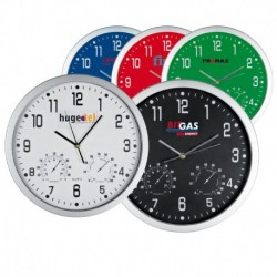 Διαφημιστικό ρολόι τοίχου υγρόμετρο θερμόμετρο